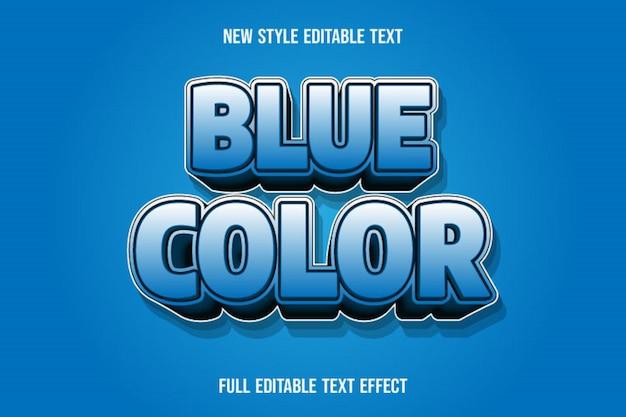 Efeito de texto 3d cor azul cor gradiente de azul e preto