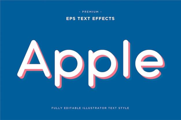 Efeito de texto 3d da apple