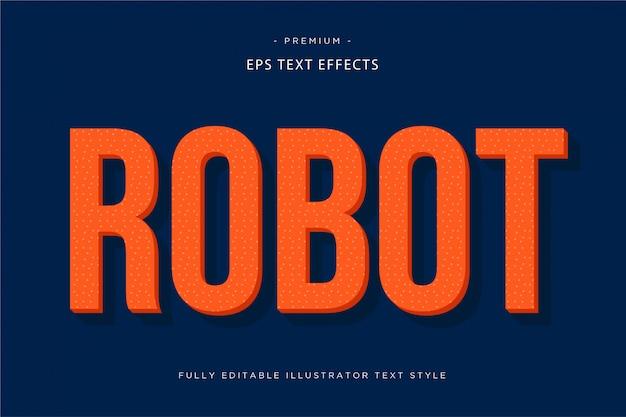 Efeito de texto 3d do robô