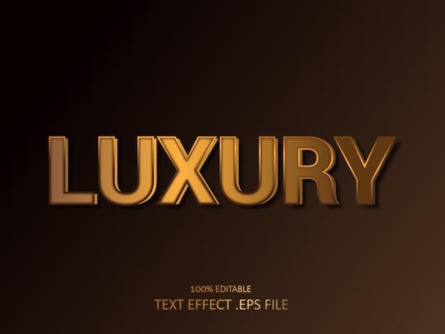 Efeito de texto 3d dourado real. estilo de fonte editável