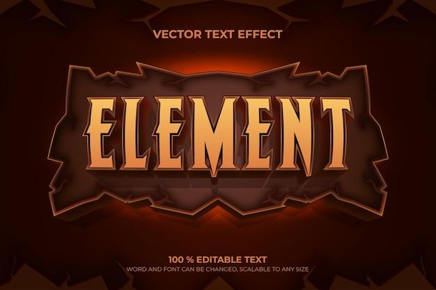Efeito de texto 3d editável de elemento com estilo rock backround