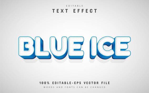 Efeito de texto 3d editável em azul