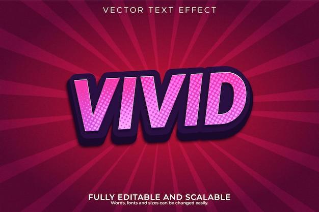 Efeito de texto 3d editável em cores vivas