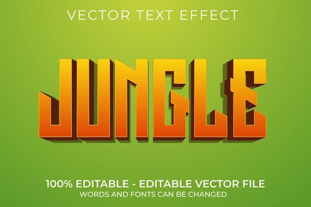 Efeito de texto 3d editável na selva