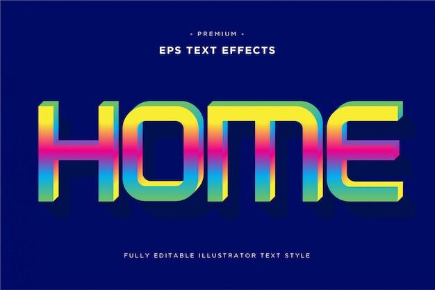 Efeito de texto 3d em casa
