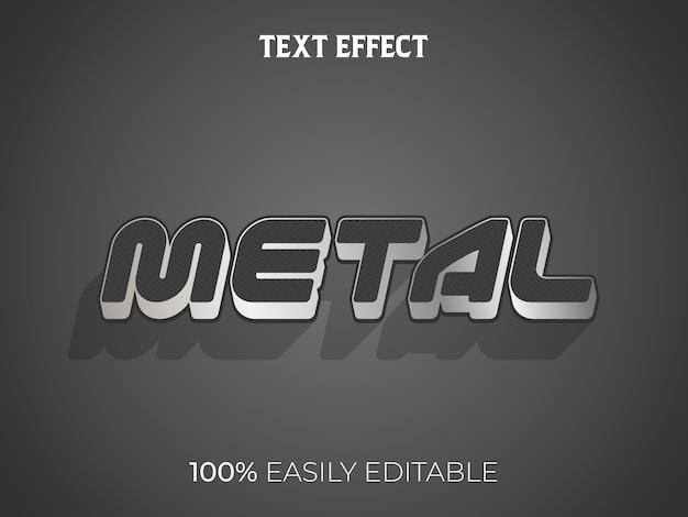 Efeito de texto 3d em metal