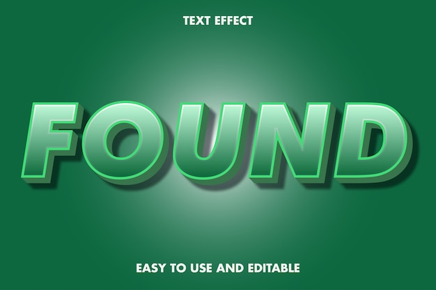 Efeito de texto 3d - encontrado. fácil de usar e editável.