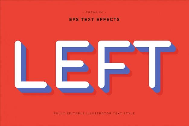 Efeito de texto 3d esquerdo