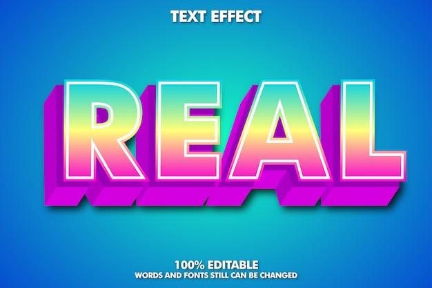 Efeito de texto 3d, estilo de texto moderno e moderno