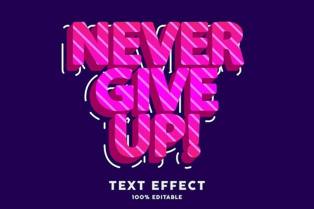 Efeito de texto 3d estilo moderno rosa fresco