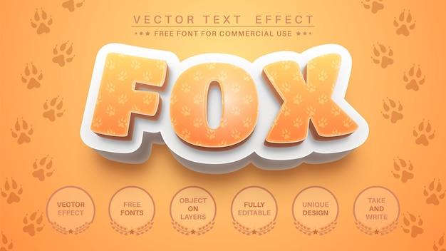 Efeito de texto 3d fox