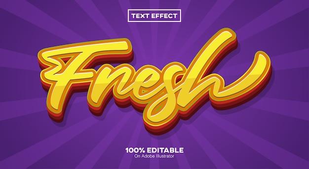 Efeito de texto 3d fresco