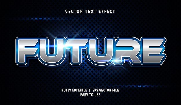 Efeito de texto 3d futuro, estilo de texto editável