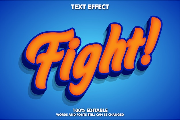 Efeito de texto 3d laranja e azul
