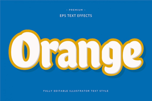 Efeito de texto 3d laranja