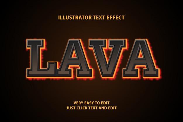 Efeito de texto 3d lava, texto editável