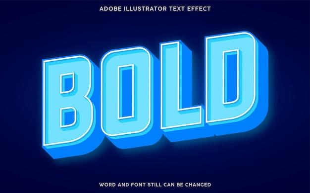 Efeito de texto 3d luz azul