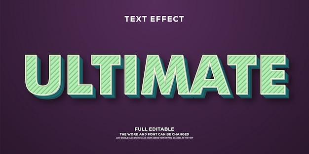 Efeito de texto 3d moderno com design listrado