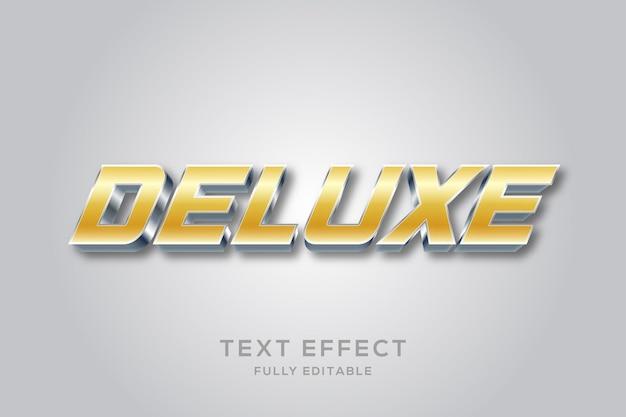 Efeito de texto 3d moderno dourado e prateado