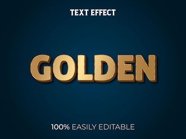 Efeito de texto 3d moderno e estilo de fonte editável