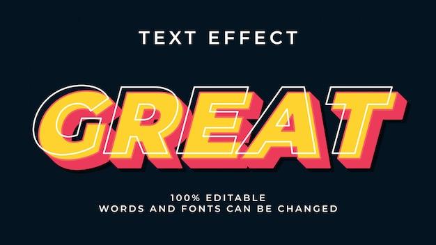 Efeito de texto 3d moderno editável