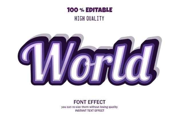 Efeito de texto 3d moderno, efeito de fonte editável