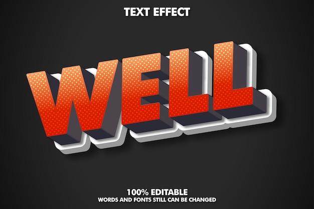 Efeito de texto 3d moderno