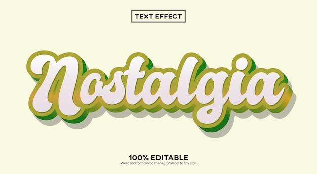 Efeito de texto 3d nostalgia