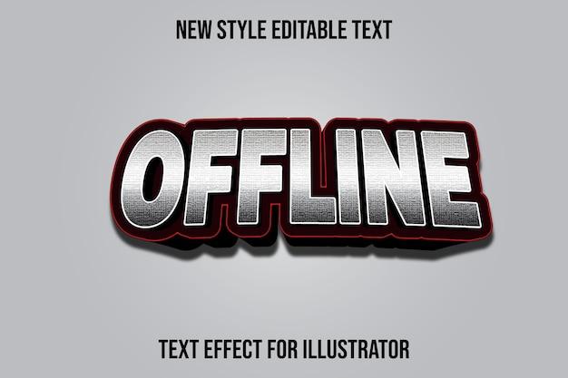 Efeito de texto 3d offline cor prata e gradiente preto