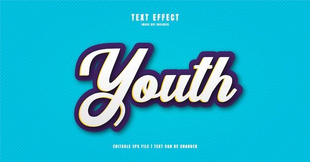 Efeito de texto 3d para jovens