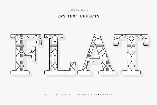 Efeito de texto 3d plana