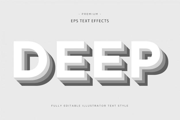 Efeito de texto 3d profundo