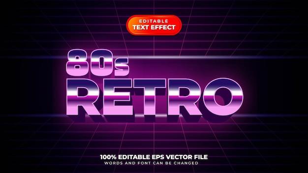 Efeito de texto 3d retro dos anos 80