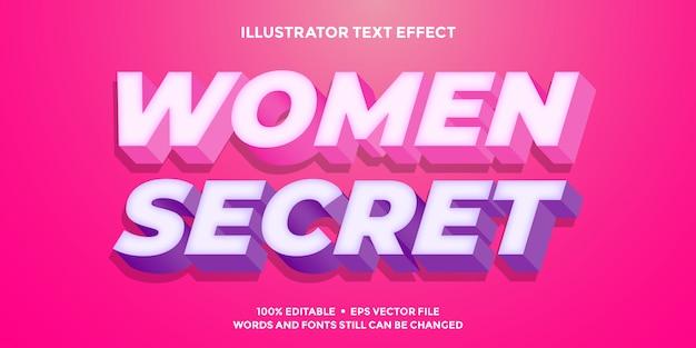 Efeito de texto 3d rosa e roxo brilho