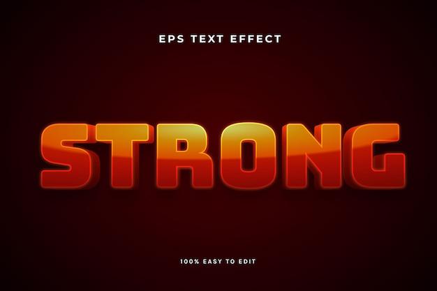 Efeito de texto 3d vermelho forte