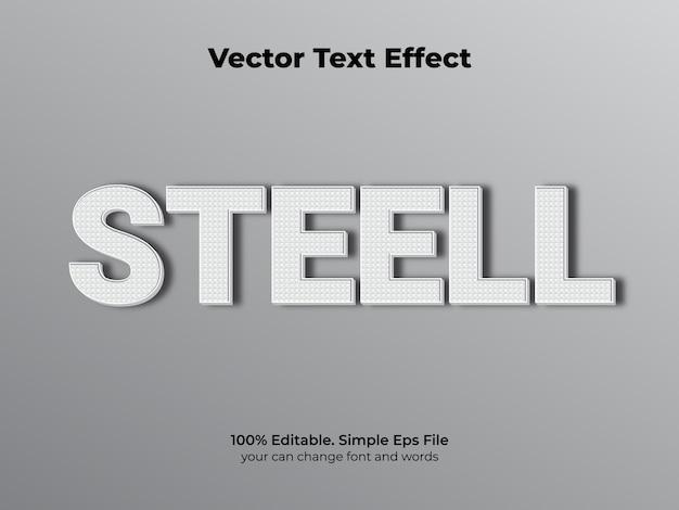 Efeito de texto aço