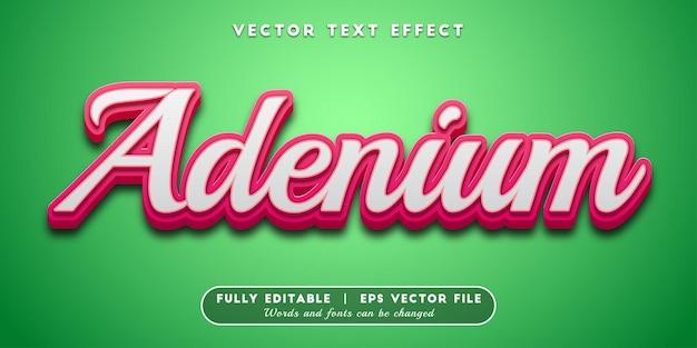 Efeito de texto adenium, estilo de texto editável