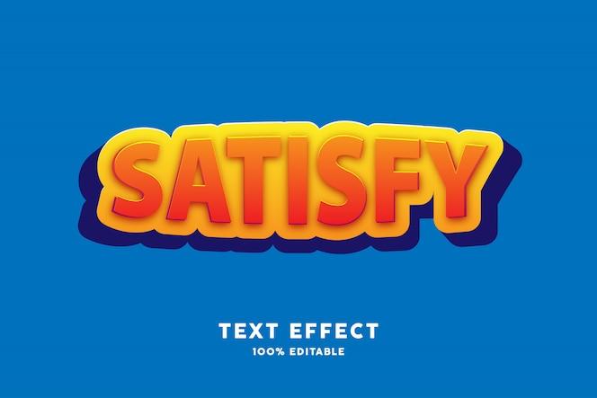 Efeito de texto adesivo vermelho amarelo