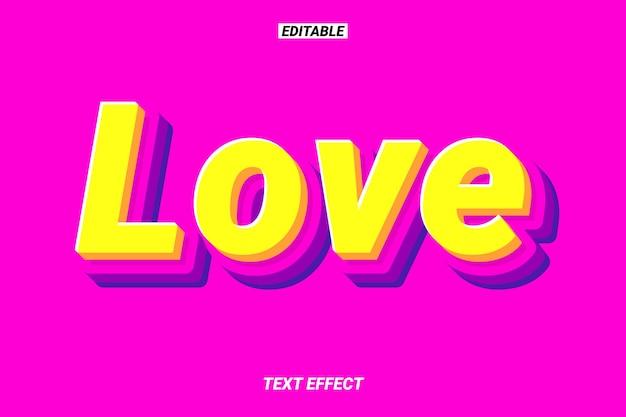 Efeito de texto amigável e adorável