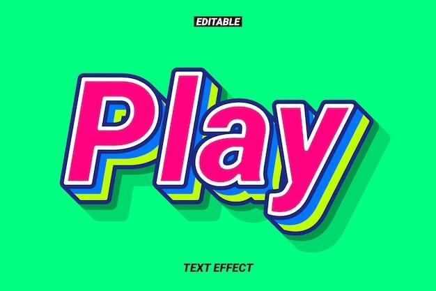 Efeito de texto amigável e colorido