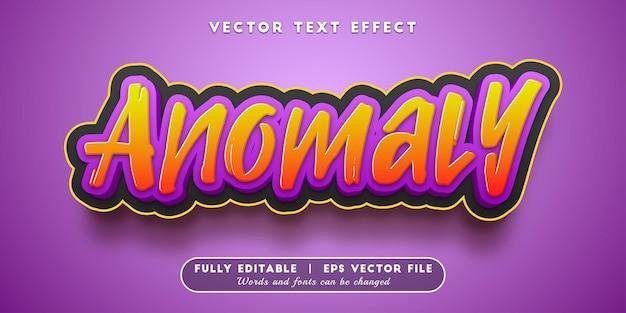 Efeito de texto anômalo com estilo de texto editável