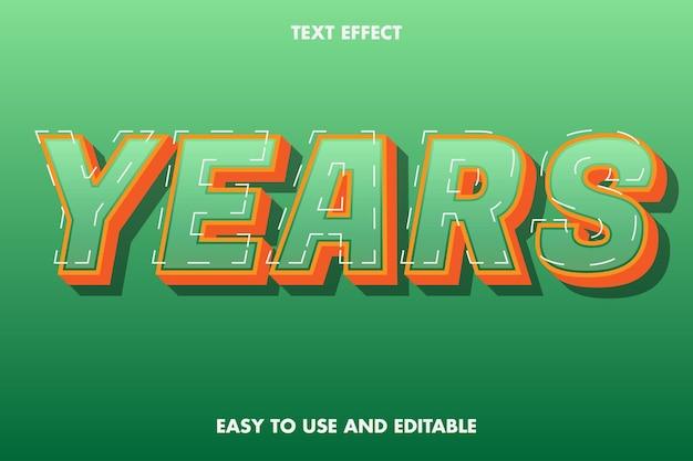 Efeito de texto - anos. editável e fácil de usar.