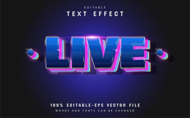 Efeito de texto ao vivo com gradiente