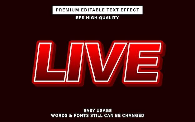 Efeito de texto ao vivo
