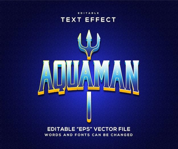 Efeito de texto aquaman azul