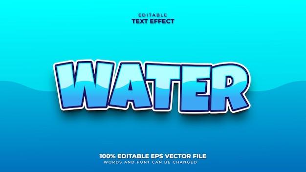 Efeito de texto aquático