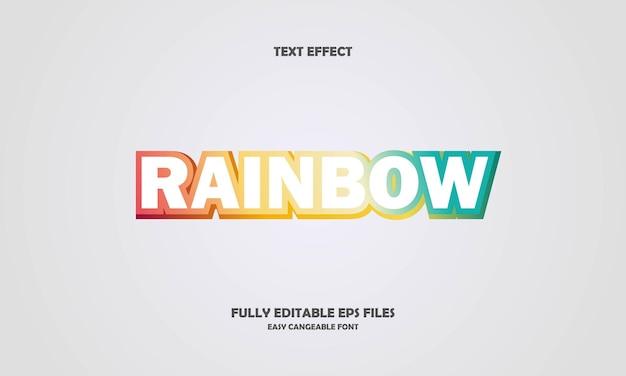 Efeito de texto arco-íris