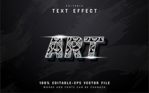 Efeito de texto artístico
