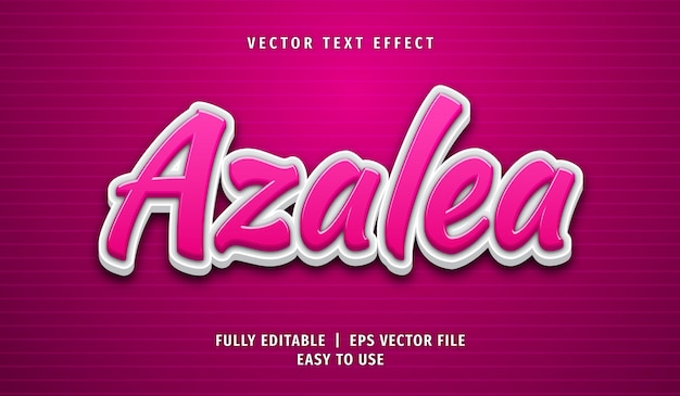 Efeito de texto azálea, estilo de texto editável