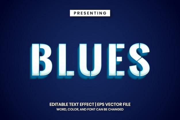 Efeito de texto azul branco brilhante